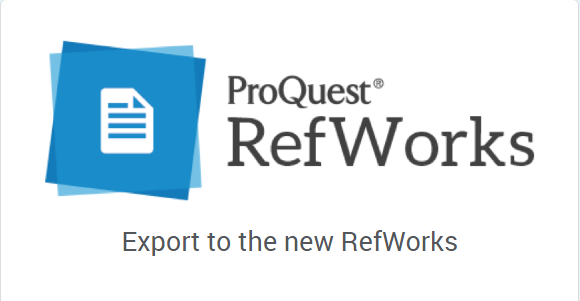 New RefWorks
