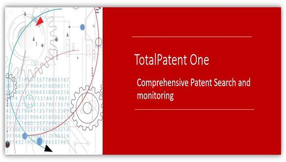 TotalPatent One: Comprehensive Patent Search and monitoring