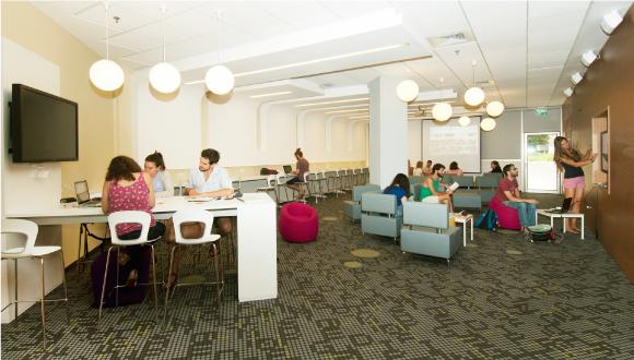 Study areas in the Library